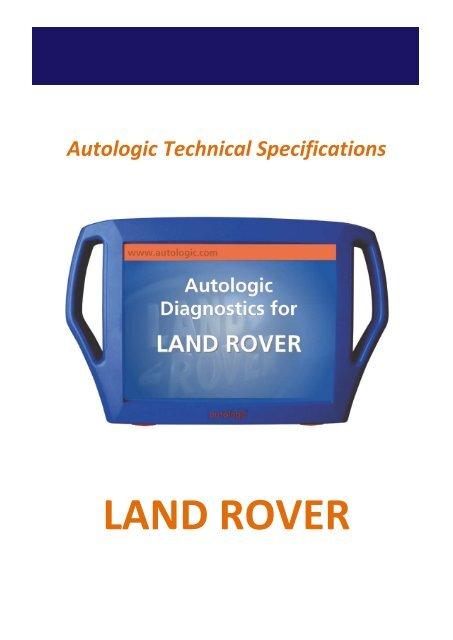 Land Rover Technical Specifications Oct 10 - AMT GarageForum