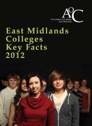 East midlands college key facts 2012