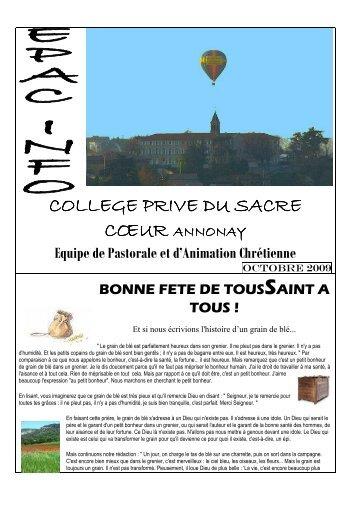 COLLEGE PRIVE DU SACRE - Collège Sacré Coeur