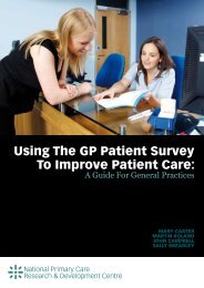 Using The GP Patient Survey To Improve Patient Care: