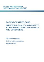 patient-centred care: improving quality and safety by focusing care ...