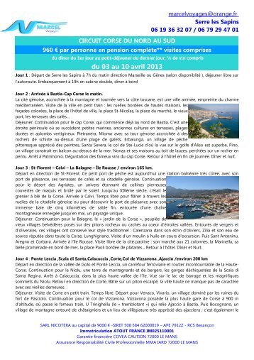 Programme - MARCEL Voyages