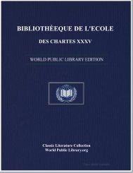 biblioth»eque de l'ecole des chartes xxxv - World eBook Library