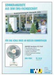 SOMMERANGEBOTE AUS DEM EWU ... - Verena Eberhard Werbung