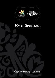 UEFA EURO 2012™ Club Prestige price list - SPORTFIVE
