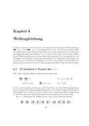 Kapitel 6 Wellengleichung