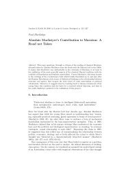 Alasdair MacIntyre's Contribution to Marxism: A ... - Analyse & Kritik