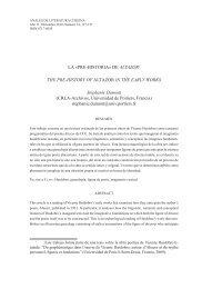 LA «PRE-HISTORIA - Anales de Literatura Chilena