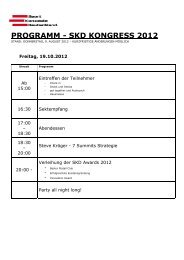 PROGRAMM - SKD KONGRESS 2012 - SKD Sport Konzepte ...