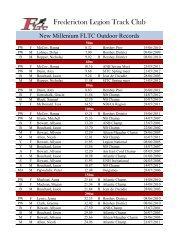 Fredericton Legion Track Club - FLTC
