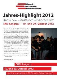 Zu offiziellen Einladung - SKD Sport Konzepte Deutschland GmbH