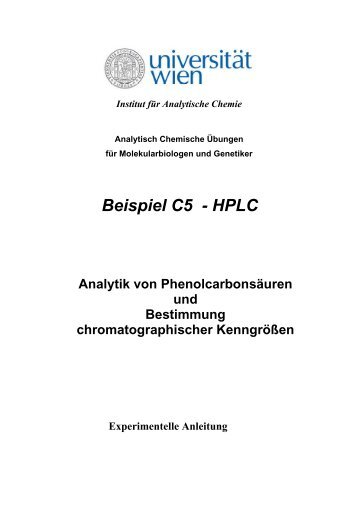 Toxikologie II - Institut für Analytische Chemie - Universität Wien