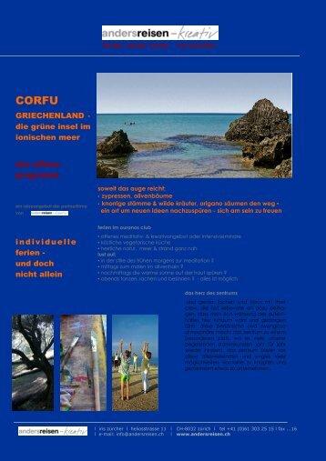 griechenland, corfu (ouranos), offenes meditations- & kreativangebot