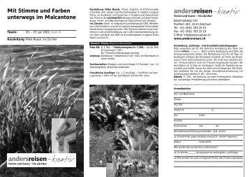 2002 - Mit Stimme und Farben unterwegs im Malcantone (Kurs K6)