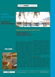 griechenland, sivota: off. angebot & seminare