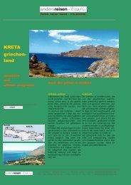 griechenland, kreta: off. angebot & seminare - andersreisen - kreativ!