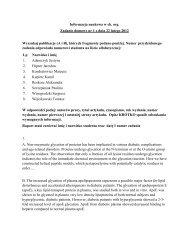 Informacja naukowa w ch. org. Zadanie domowe nr 1 z dnia 22 ...