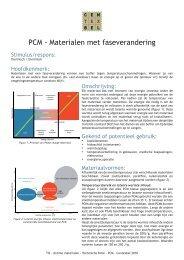 PCM - Materialen met faseverandering - Centexbel
