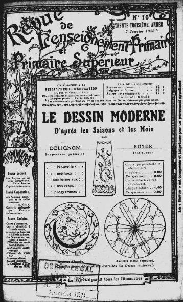 LE DESSIN MODERNE - INRP
