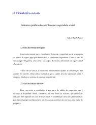 Natureza jurídica da contribuição à seguridade social - eGov UFSC