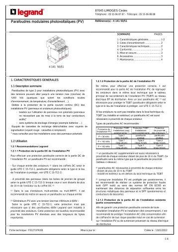 Parafoudres modulaires photovoltaïques (PV)