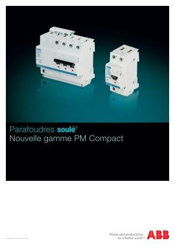 Parafoudres soulé Nouvelle gamme PM Compact