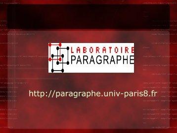 Présentation du laboratoire Paragraphe Paris 8