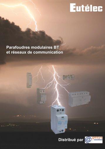 Catalogue parafoudres Eutelec Agesys 112011.indd