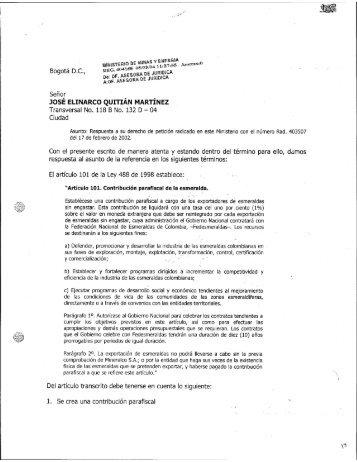 404165 - Ministerio de Minas y Energía