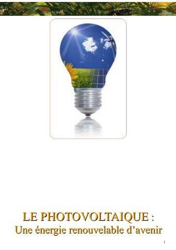 Qu'est ce que le photovoltaïque?