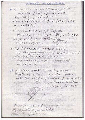 Exerciții serii numerice - Andrei