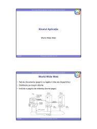 Curs 10 - Nivelul aplicație - derivat