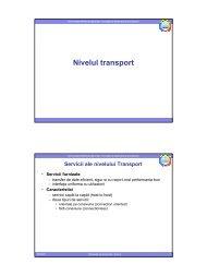Curs 8 - Nivelul transport - derivat