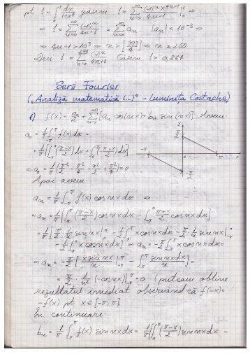 Exerciții serii Fourier - Andrei