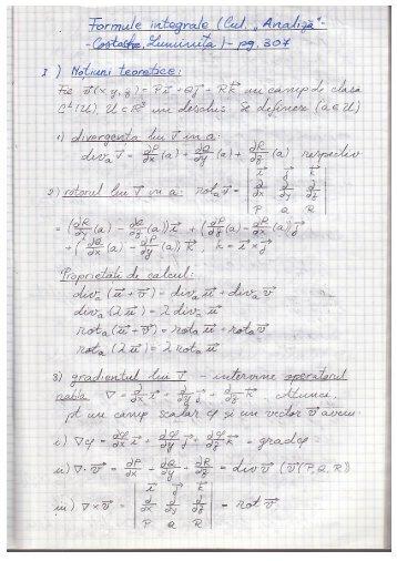 Exerciții formule integrale - Andrei