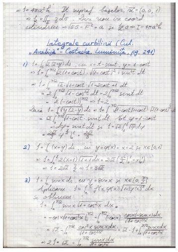 Exerciții integrale curbilinii - Andrei