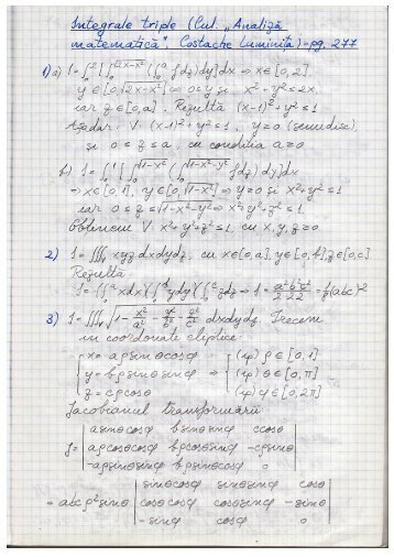 Exerciții integrale triple - Andrei