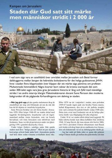 Kampen om Jerusalem - Shalom över Israel!