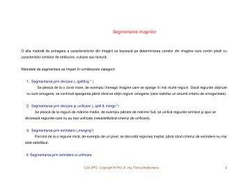 Segmentarea imaginilor [pdf] - Andrei