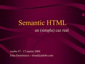 Semantic HTML - Andrei