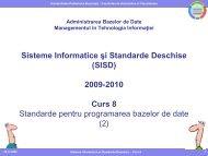 Curs 8 - Standarde pentru programarea bazelor de date (2 ... - Andrei
