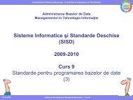 Curs 9 - Standarde pentru programarea bazelor de date (3 ... - Andrei