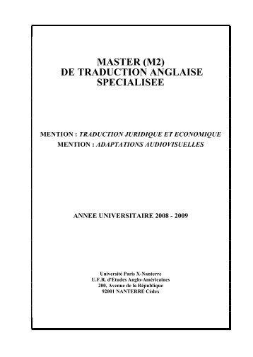 Brochure TAS site - Département d'études anglophones - Université ...