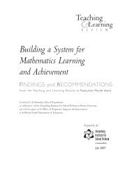 Building a System for Mathematics Learning and Achievement