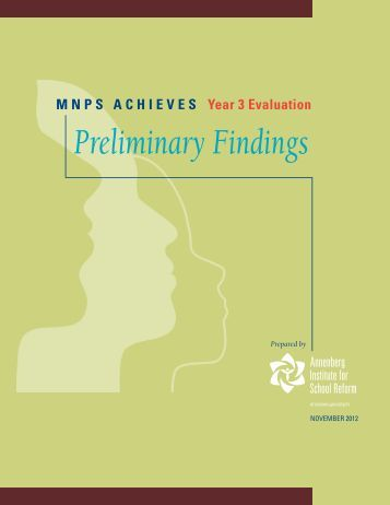 MNPS ACHIEVES Year 3: An Evaluation Report - Annenberg ...