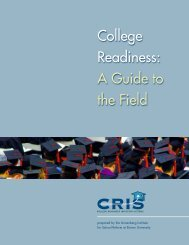 College Readiness: A Guide to the Field - Annenberg Institute for ...