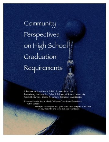 Community Perspectives on High School Graduation Requirements