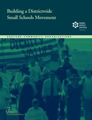 Building a Districtwide Small Schools Movement - Annenberg ...