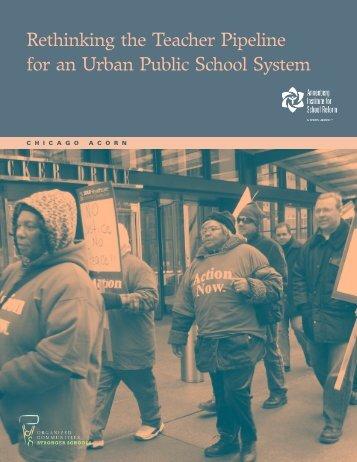 Chicago case study - Annenberg Institute for School Reform