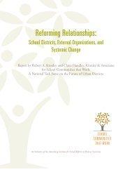 Reforming Relationships: - Annenberg Institute for School Reform